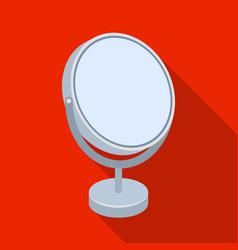 Desk mirrorbarbershop single icon in flat style vector