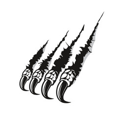 Dragon claw marks scratches monster fingers vector