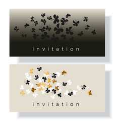 elegant gold and black butterfly vector image