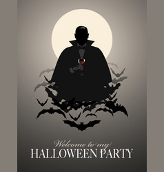 elegant vampire silhouette-01 vector image
