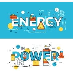 Energy Sources Banner Set vector