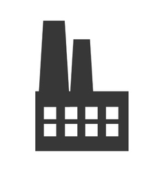 Factory industry building icon graphic vector