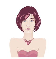female portrait vector image