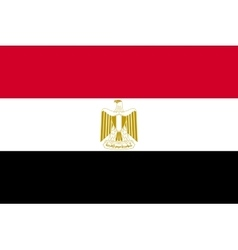 Flag of Egypt in correct proportions and colors vector image