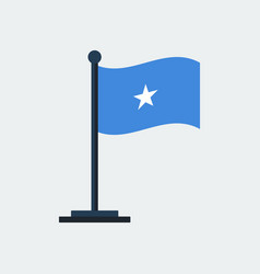 flag of somaliaflag stand vector image