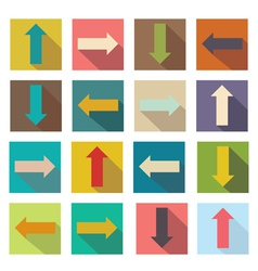 Flat icons arrows for web design vector