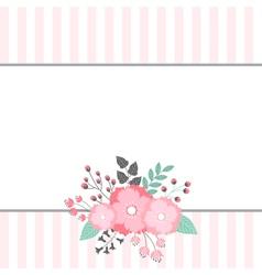 Floral Bouquet Card vector image
