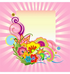 funky flower design vector image
