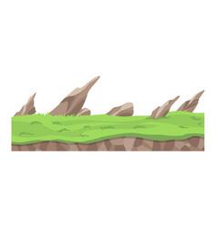 game landscape cartoon design nature landscape vector image