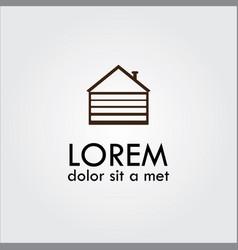 Garage icon logo vector