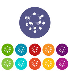 glucose icons set color vector image
