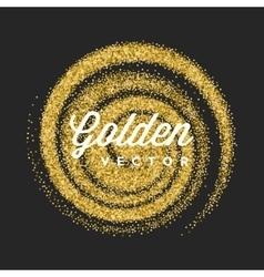 Gold Glitter Sparkles Bright Confetti Black vector image