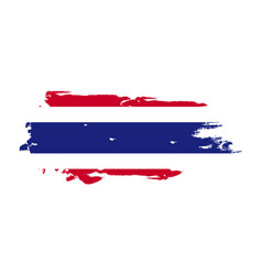 Grunge brush stroke with thailand national flag vector