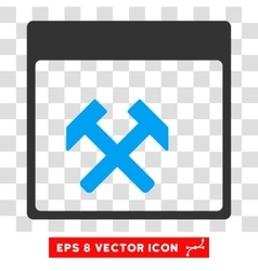Hammers Calendar Page Eps Icon vector image