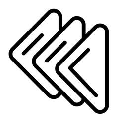 Handkerchief icon outline style vector