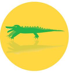 icon toy crocodile vector image