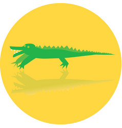 Icon toy of crocodile vector