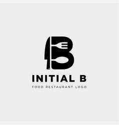Initial b food equipment simple logo template vector