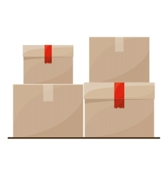 Isolated delivery package design vector image