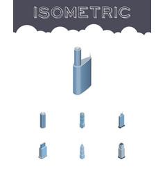 isometric skyscraper set of exterior building vector image