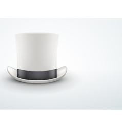 Light Background White gentleman hat cylinder with vector image