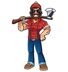 lumberjack on white vector image