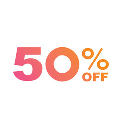 luxury gradient orange to pink fifty percent vector image