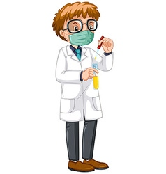 Male scientist doing experiment vector image