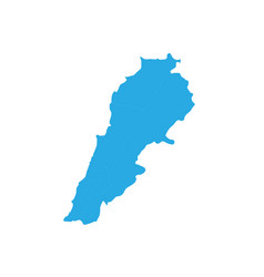 map of lebanon high detailed map - lebanon vector image