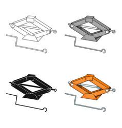 mechanical jackcar single icon in cartoon style vector image