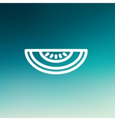 Melon thin line icon vector image