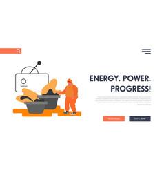 metal production plant website landing page vector image