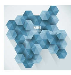 Modern abstract hexagon background vector image