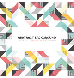 modern background with triangles and lines vector image