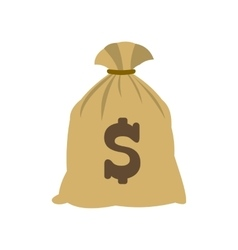 Money bag with US dollar sign icon vector image