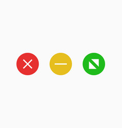 Navigate window mac icons red cross symbol vector