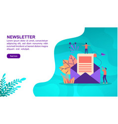 Newsletter concept with character template for vector