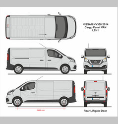 Nissan nv300 cargo panel van l2h1 2014 vector