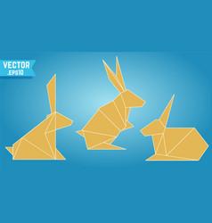 origami rabbits vector image
