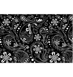 Paisley pattern background mandala abstract in vector