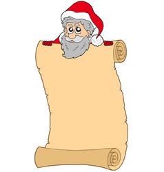 parchment with santa claus vector image