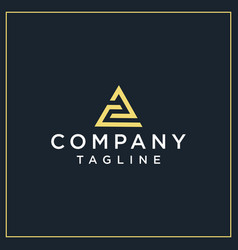 Pc or ac triangle logo vector