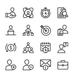 Personal quality employee management line vector