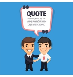 Quote Speech Banner with Trainee vector image
