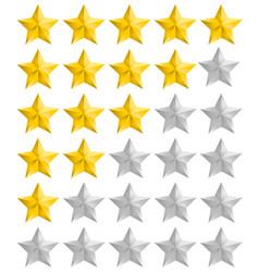 Rating golden stars set vector
