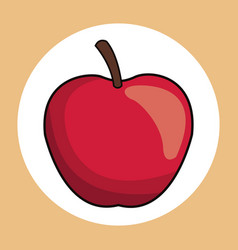 Red apple healthy fresh image vector