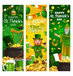 Religious st patricks day holiday irish symbols vector