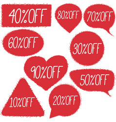 Retail discount proposition stickers set vector