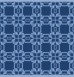 retro blue seamless wallpaper vector image