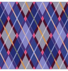 Rhombic tartan blue and pink fabric seamless vector